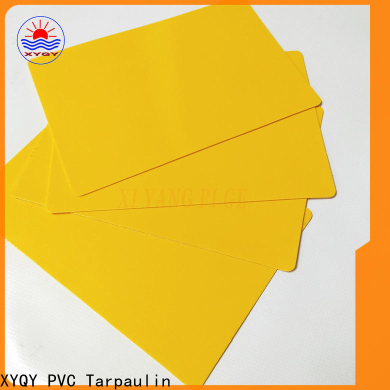 XYQY strength pvc coated tarpaulin fabric suppliers Supply for outdoor