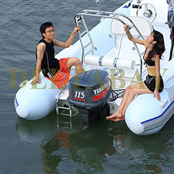 XYQY waterproof pvc inflatable boat with high tearing for outside-18