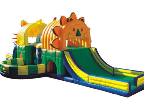 XYQY Custom large bouncy castle with slide manufacturers for inflatable games tarp-28