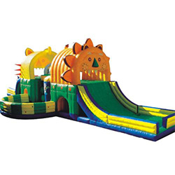 Latest large bouncy castle with slide tarp factory for kids-22