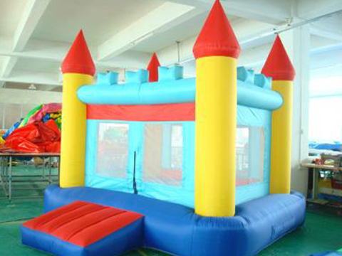 Latest large bouncy castle with slide tarp factory for kids-23