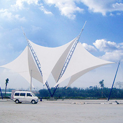 XYQY fabric tensile umbrella structures manufacturers for carportConstruction for membrane-19