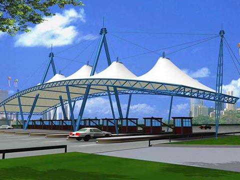 XYQY fabric tensile umbrella structures manufacturers for carportConstruction for membrane-20