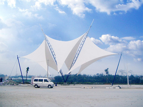 XYQY fabric tensile umbrella structures manufacturers for carportConstruction for membrane-25