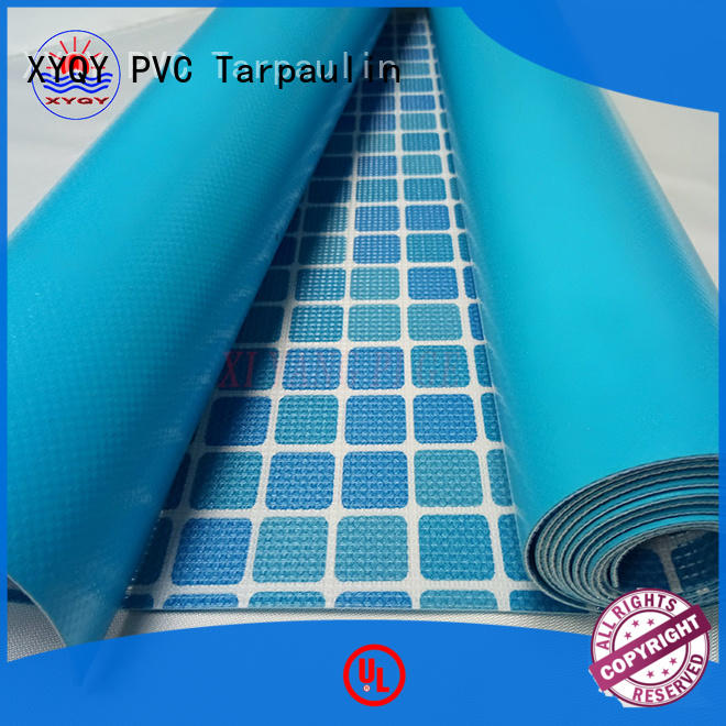 XYQY coated swimming pool backing fabric company for swimming pool