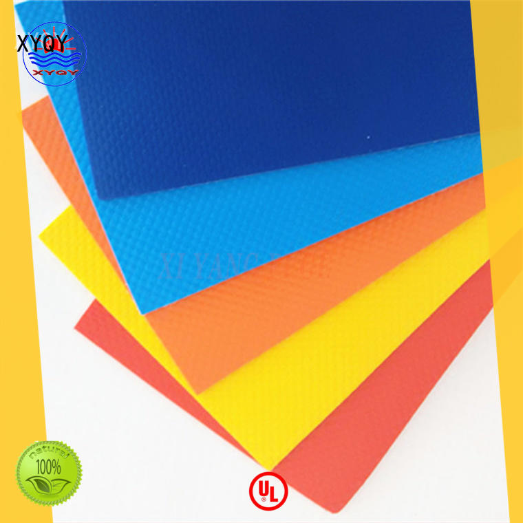 XYQY durable pvc coated polyester fabric with good quality and pretty competitive price for inflatable pools.