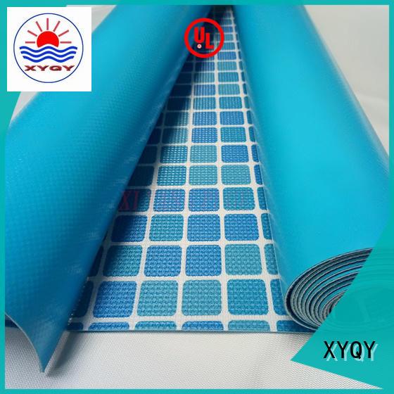 XYQY Brand tarpaulin swimming pool fabric size factory